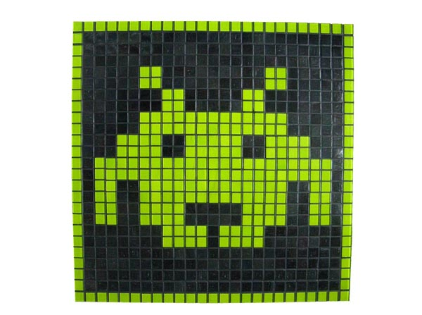 Space Invaders Themed Mosaic Coffee Table  Gadgetsin