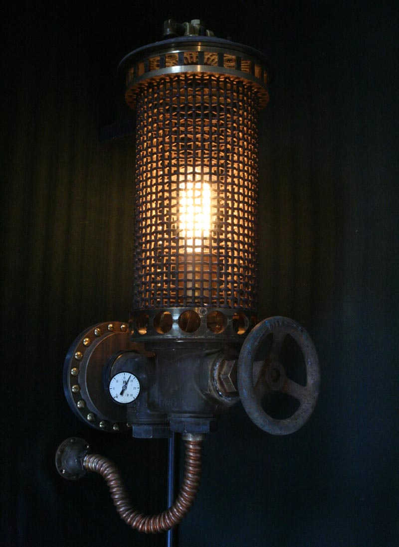 Steampunk Styled Found Art Lamps by Cory Barkman  Gadgetsin