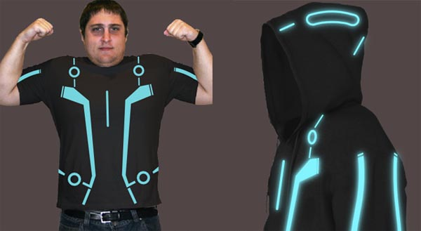 tron legacy styled glowing