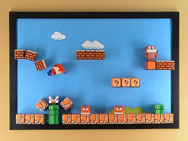Super Mario Paper Craft Magnetic Board 3D Version  Gadgetsin