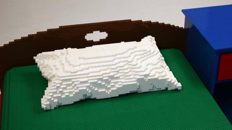 Nathan Sawayas Bedroom Build with LEGO Bricks  Gadgetsin