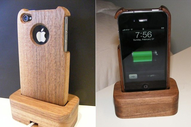 ... , you may like to check the wooden iPhone 4 case and charging dock