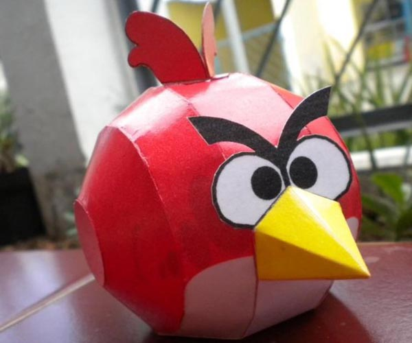Red and Black Angry Birds Paper Carfts  Gadgetsin