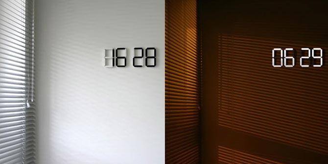 Black Amp White Digital Wall Clock Gadgetsin