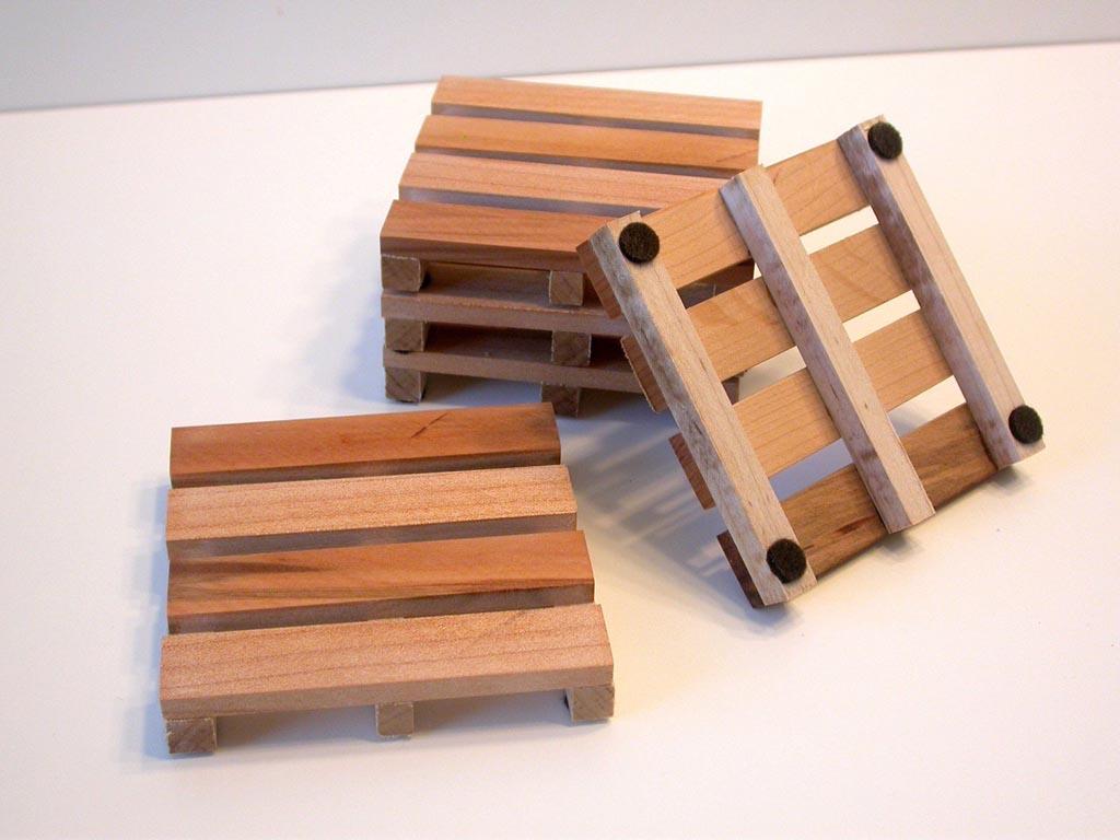 Wooden Pallet Styled Coaster Set Gadgetsin