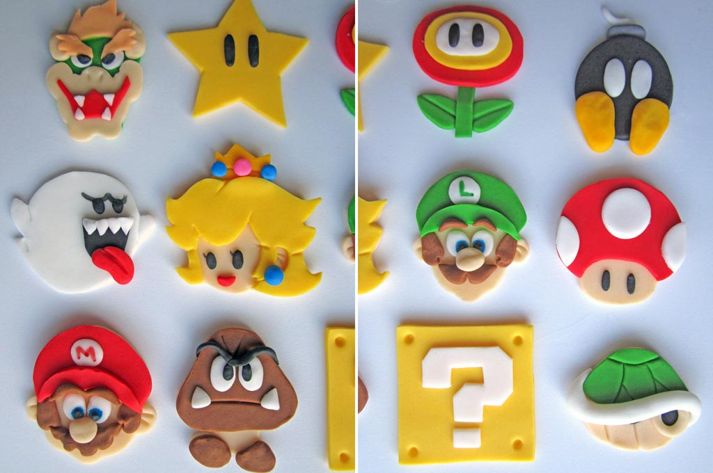 Super Mario Cookie and Cupcake Toppers  Gadgetsin