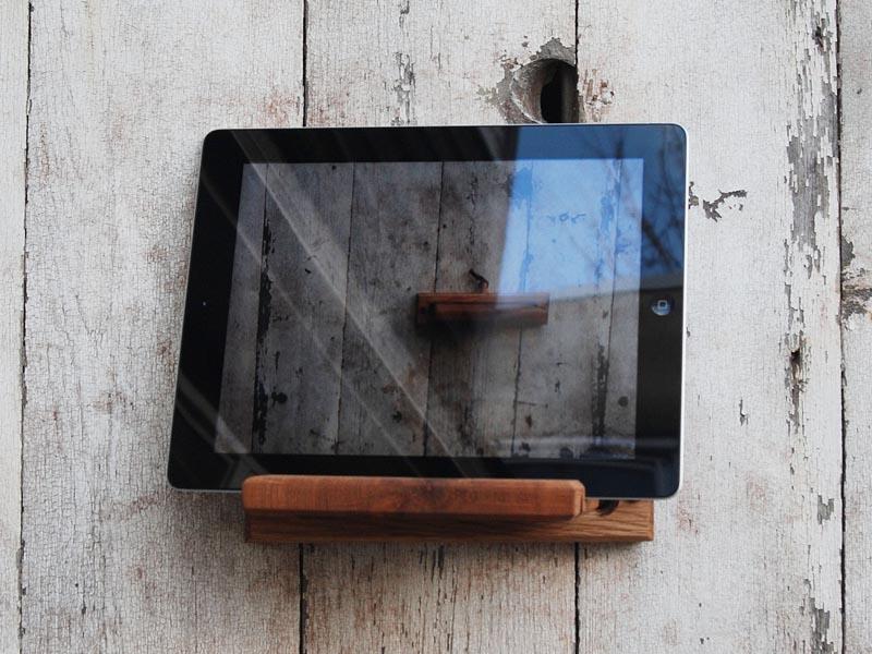 Handmade iPad Stand and Wall Mount  Gadgetsin