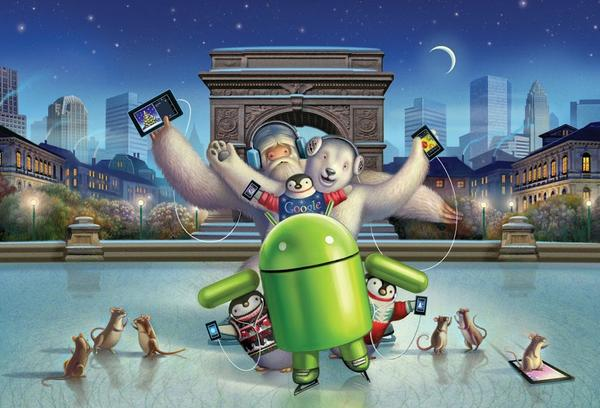 Cute Cartoon Hd Wallpapers For Android Happy Holiday Cards From Google Nexus Gadgetsin