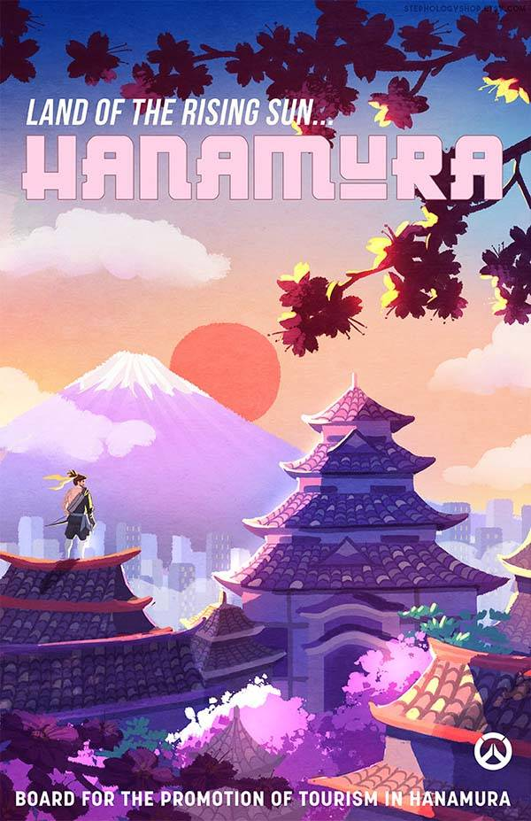 The Travel Overwatch Poster Set Highlights Those Iconic
