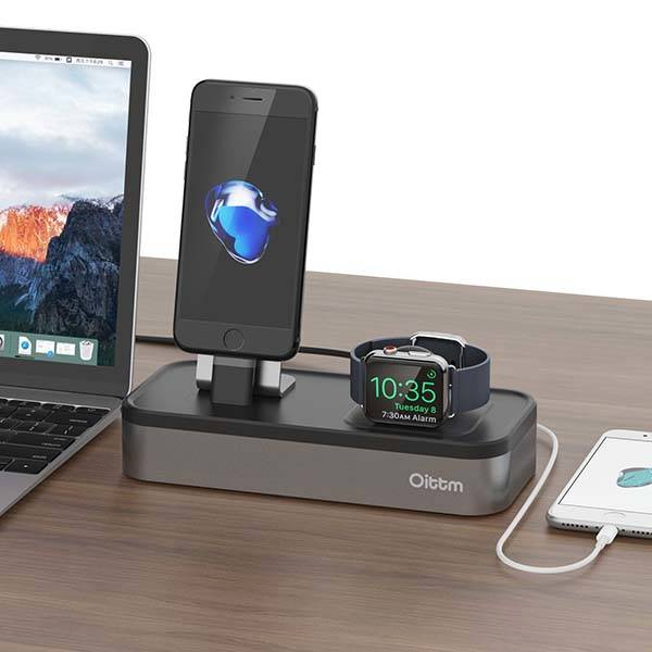 Oittm iPhone Apple Watch Charging Station with Three Extra