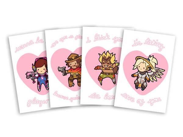 Adorable Overwatch Valentines Cards Gadgetsin