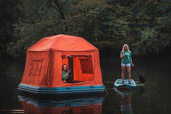Shoal Floatable Tent Sets Your Camping on the Water  Gadgetsin