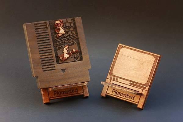 Handmade NES Game Cartridge Shaped Wooden Raspberry Pi Zero Case Gadgetsin