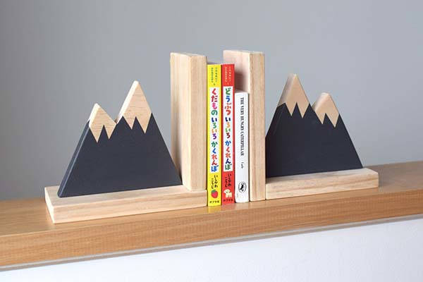Handmade Mountain Peak Wooden Bookends  Gadgetsin