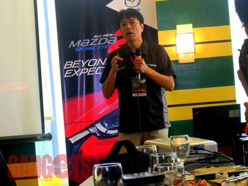 Minoru Takata, program manager of Mazda Motor Corporation.