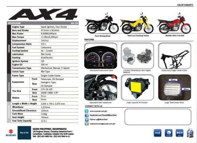 Suzuki-AX4-specs