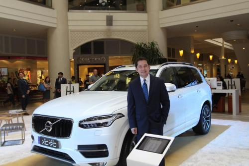 Volvo Philippines president Atty. Albert Arcilla with the all-new Volvo XC90.