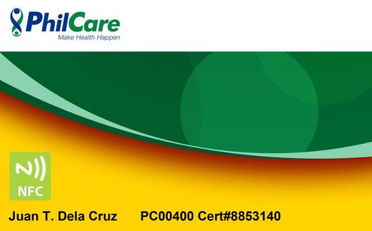 PhilCare NFC Card Mock-Up