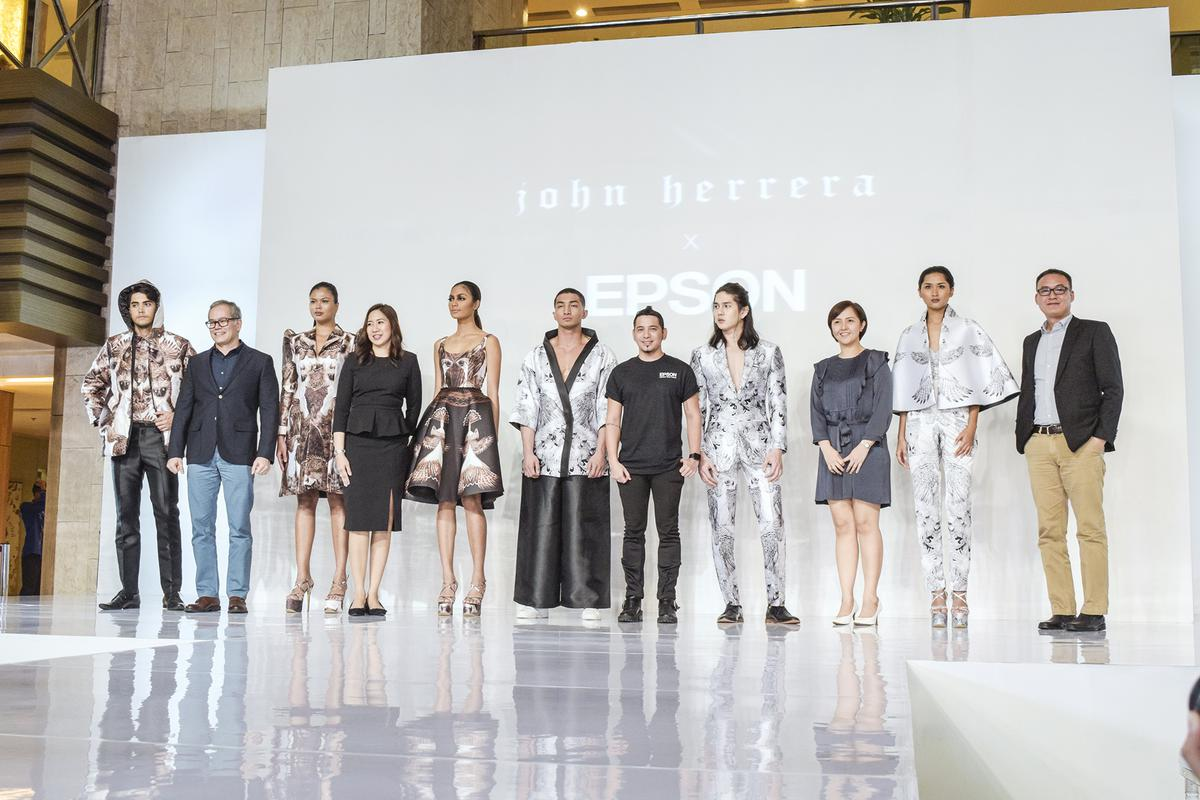 Fashion designer John Herrera partners with Epson for digitally