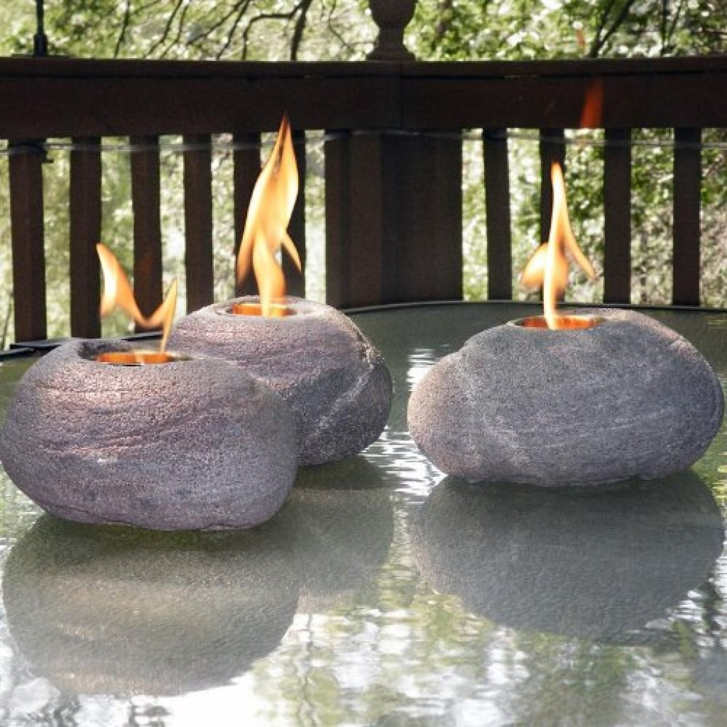 Decorative Fire Rocks with Real North American River Rock