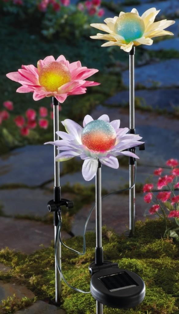 kitchen shelf decor black cabinets color changing solar flower garden stakes – gadgets matrix