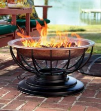 Solid Hammered Copper Fire Pit With Lid Converts To Table ...