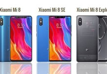 Xiaomi Mi 8 vs Mi 8 SE vs Mi 8 Explorer