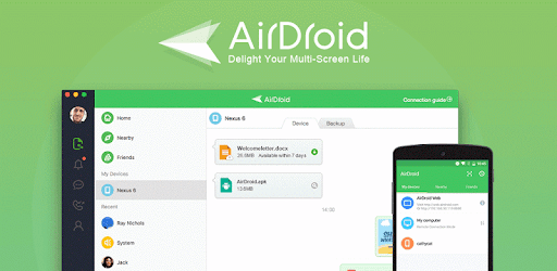 AirDroid Android to PC