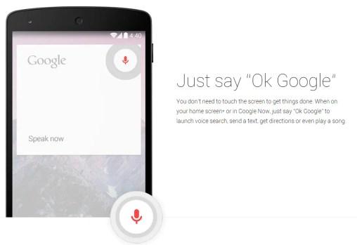 Ok Google Now Voice Commands