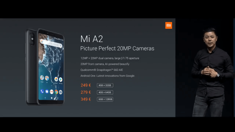 Xiaomi Mi A2 and Mi A2 lite price in India and cost