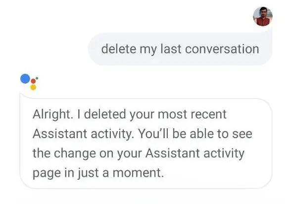 Удалить историю Google Assistant на Android с помощью голосовых команд