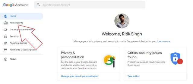 So entfernen Sie Profilbilder aus dem Google-Konto (Google Mail