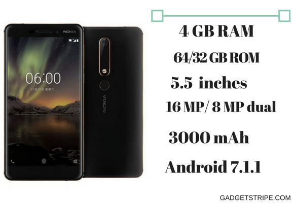 Nokia 6 (2018) specs & features