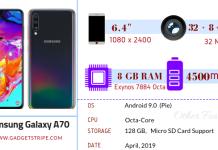 Samsung Galaxy A70 specs