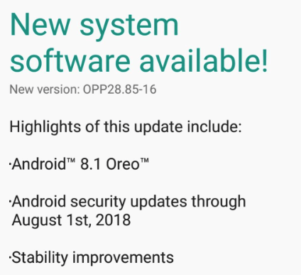 Android 8 1 Oreo released for Moto G5 (cedric) - Build OPP28