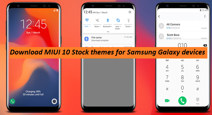 Download MIUI 10 Theme For All Samsung Galaxy Devices | GadgetsTwist