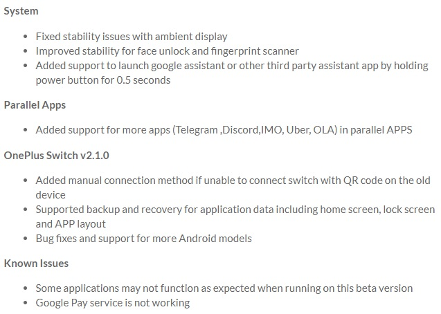 OnePlus 6 Oxygen OS Open Beta 3 - Download   GadgetsTwist