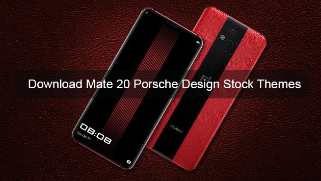 Download Huawei Mate 20 RS Porsche Design themes for all EMUI