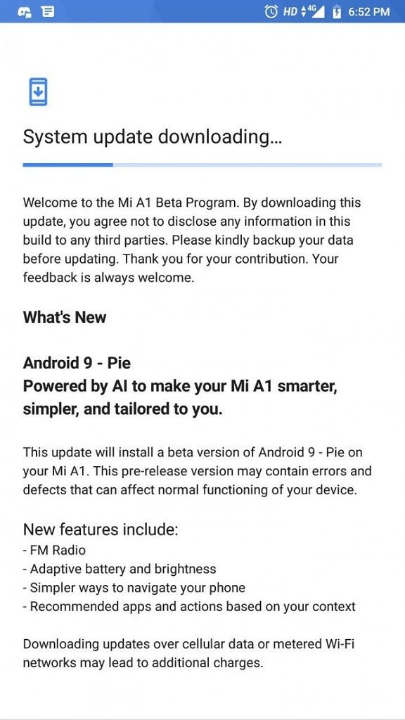 Download Android Pie Fastboot zip for Xiaomi Mi A1 [V10 0 2