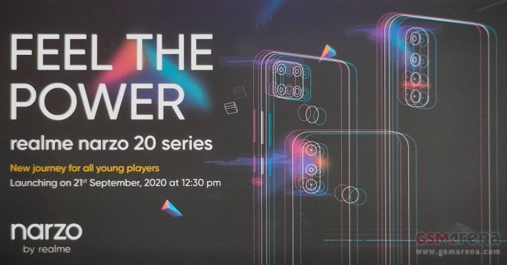Realme creatively invites to the presentation of the new Narzo 20 line
