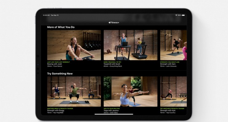 Apple Fitness + - for those who like to exercise at home and do it in a variety of ways