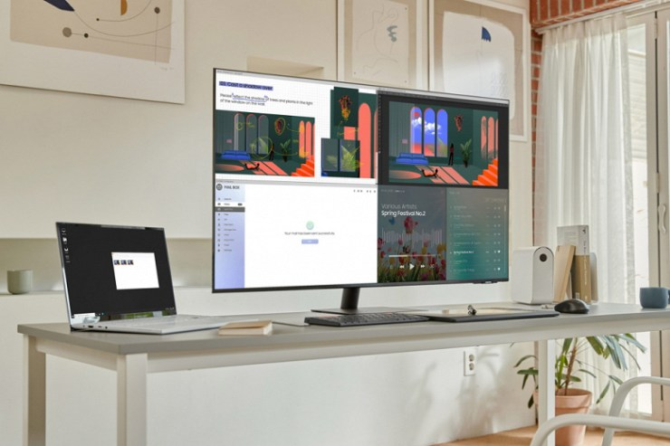 The line of monitors Samsung Smart Monitor replenished models with screens in sizes 24, 27 and 43 inches