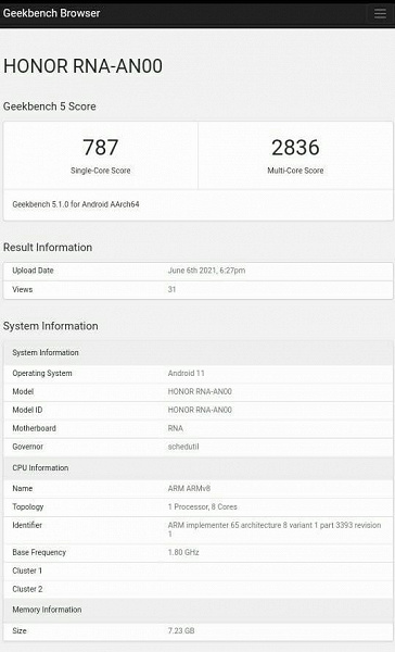 Honor 50 Pro on live photos, videos and in Geekbench 10 days before the announcement