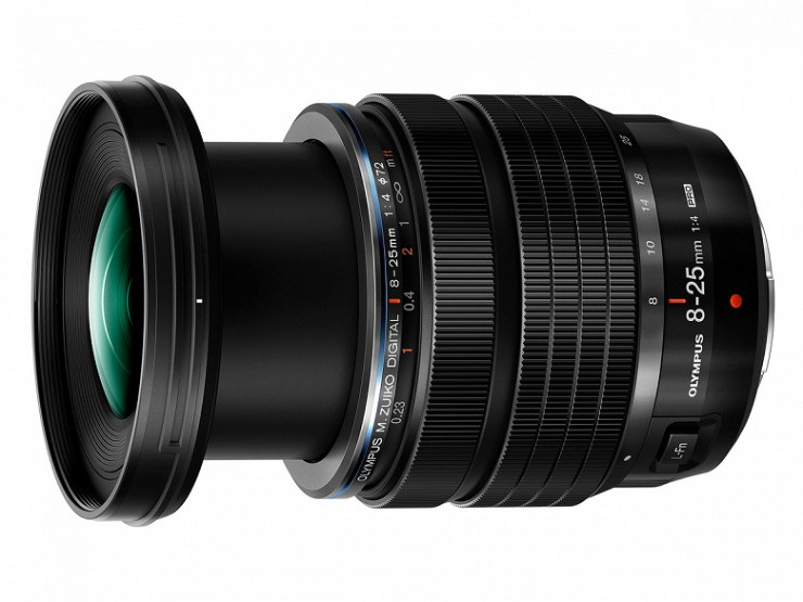 Olympus M.Zuiko 8-25mm F4 Pro Micro Four Thirds lens introduced