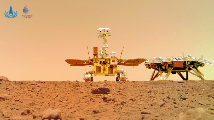 The Americans photographed the first Chinese Mars rover on the Red Planet from space