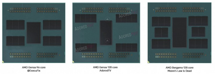 Strange AMD processors on the old process technology, as well as 128-core Epyc.  There are rumors about new products of the company