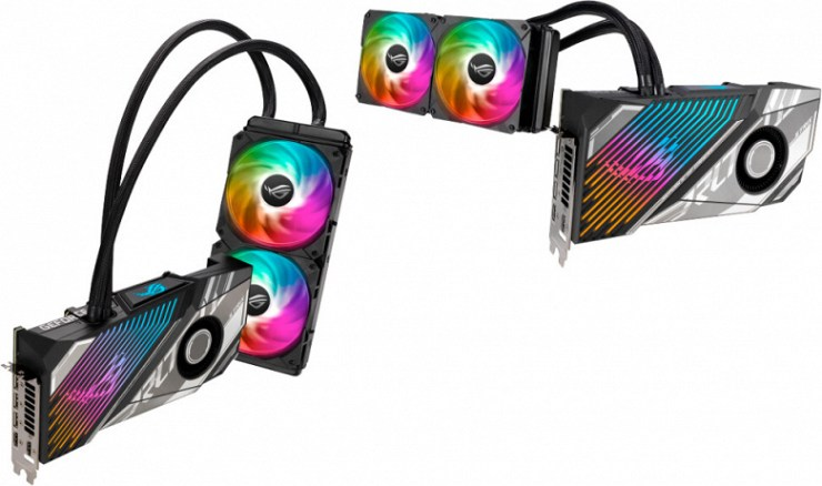 Asus RTX 3080 Ti ROG Strix LC Hybrid Cooled Graphics Cards Unveiled