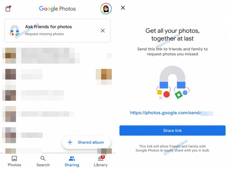 Google Photos will request photos from friends and family