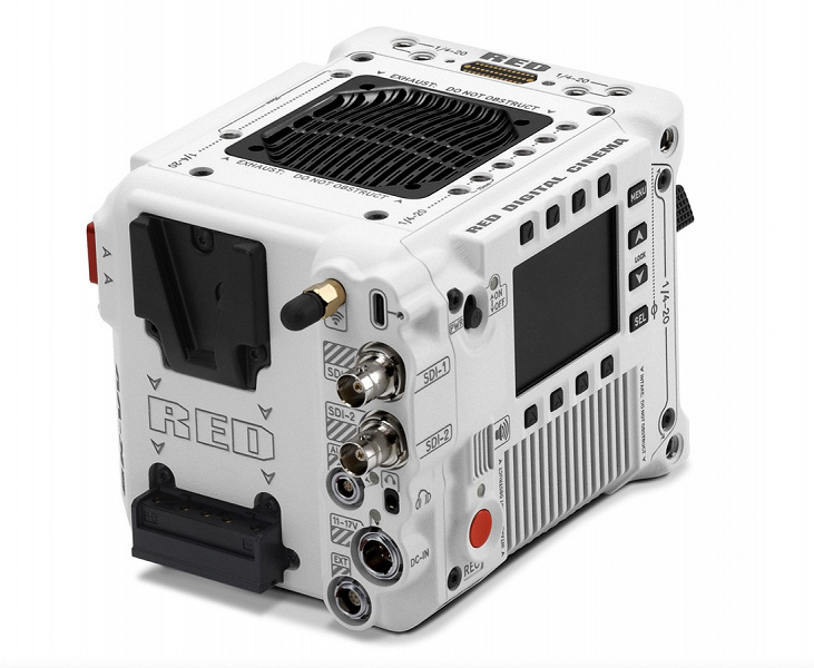 RED V-Raptor ST camera is capable of shooting 8K video in 16-bit RAW format at 120 fps