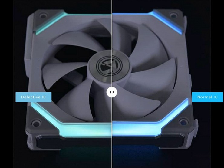The manufacturer found a defect in some Lian Li Uni SL120 fans and offers a free replacement